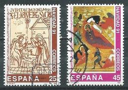 Espagne YT N°2751/2752 Noël 1991 Oblitéré ° - 1991-00 Used