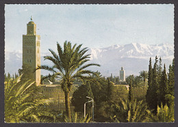113961/ MARRAKECH, Mosquée Koutoubia Et Le Grand Atlas - Marrakech