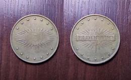 CASINO TOKEN 5 ELDORADO UKRAINE Kyiv SLOT MACHINE JETON GETTONE Metal Ø26,7mm - Casino