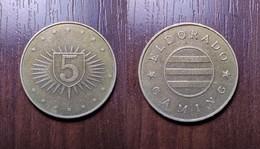CASINO TOKEN 5 ELDORADO UKRAINE Kyiv SLOT MACHINE JETON GETTONE Metal Ø26,9mm - Casino