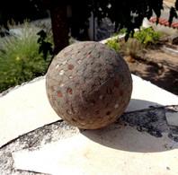 RARE - COLLECTION - ANCIENNE  BOULE LYONNAISE VISSEE - EPOQUE 1890 / 1910 - - Bowls - Pétanque