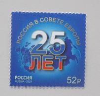 Rusland-Russia 2021 25e Anniv Council Of Europe - Europese Gedachte