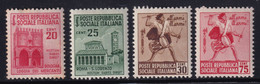Repubblica Sociale 1944 Serie Complete Sass. 496/499+502/511+512/514 MNH** Cv 17 - Neufs