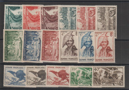 Guyane 1947 Série Courante 201-217 17 Val * Charnière MH - Unused Stamps