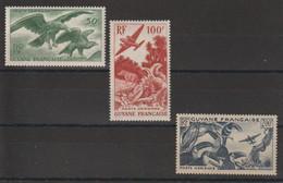 Guyane 1947 Série PA 35-37 3 Val ** MNH - Unused Stamps
