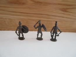 Soldat  Kinder Métal  3 Griechische Krieger Spartaner - Figurine In Metallo
