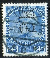 Austria Autriche 1908 1911 Série Empereur 25 Heller Perforé / Perfin SR TB Very Good State - Used Stamps