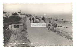 Dymchurch - Sea Wall And Sands, View Towards Restaurant - C1960's Kent Real Photo Postcard - Altri