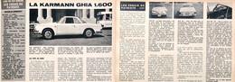 Article Papier KARMANN GHIA 1600 3 Pages 1966 PIP1051495 - Ohne Zuordnung