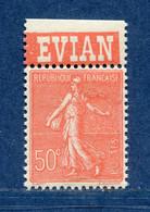 ⭐ France - Variété - YT N° 199 - Couleurs - Pétouilles - Pub Evian - Neuf Sans Charnière - 1924 ⭐ - Abarten: 1921-30 Ungebraucht
