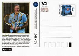Czech Republic - 2021 - Jan Kodes, Czech Tennis Player - Sberatel Collectors' Fair - Pre-paid Postcard With Hologram - Cartoline Postali