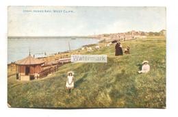 Herne Bay - West Cliff, Woman, Children, Shelter - 1910 Used Kent Postcard - Altri
