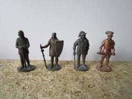 4 Soldat  Kinder Métal Krieger Scame / Patent - Figurine In Metallo