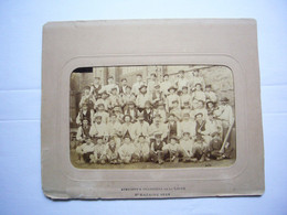 Superbe Photo 1888 Signée Ouvriers Des Ateliers Et Chantiers De La Loire Saint-Nazaire 21 X 13 Cm - Old (before 1900)
