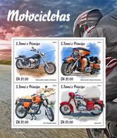 S. TOME & PRINCIPE 2019 - Motorcycles: Harley Davidson, Jawa - YT 6470-3, CV=19 € - Motorbikes