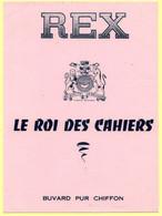3 Buvards. 2 Buvards Corona Et Trois Epis + 1 Buvard Rex Le Roi Des Cahiers. - Stationeries (flat Articles)