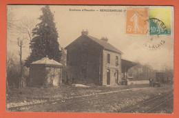 D62 - BERGUENEUSE - Hommes - Gare - Wagon - ENVIRONS D'HEUCHIN  - Carte Sépia - Andere Gemeenten
