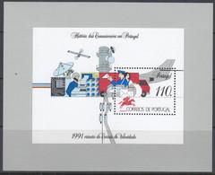 PORTUGAL  Block 80, Postfrisch **, Geschichte Der Portugiesischen Kommunikationsmittel, 1991 - Blocks & Kleinbögen