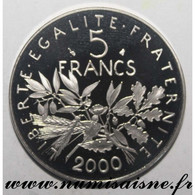 GADOURY 771 - 5 FRANCS 2000 - TYPE SEMEUSE - KM 926a - BE - J. 5 Francs