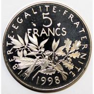 GADOURY 771a - 5 FRANCS 1998 TYPE SEMEUSE - KM 926a.2 - BE - J. 5 Francs