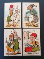 8 Cpa. Illustrateur BRUZON.Maroc.Caricature.Non Voyagées. - Altre Illustrazioni