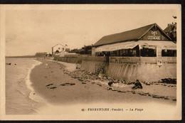 Fromentine - Vendée - La Plage - Café De L'Estacade - Circulée 1938 - Edit. G. Artaud N° 45 - Voir Scans - Autres Communes