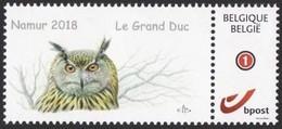 DUOSTAMP** / MYSTAMP** - Hibou Grand-duc / Grote Gehoornde Uil / Große, Ehrenwerte Eule / Great Horned Owl - BUZIN - Personalisierte Briefmarken