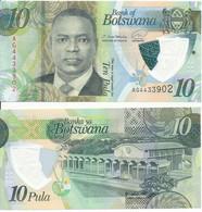 Botswana - 10 Pula 2020 UNC Printer: Oberthur Fiduciaire Polymer Lemberg-Zp - Botswana