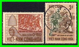 VIETNAM.-  ( DAN CHU CONG HOA - ASIA )  SELLO AÑO 1966 3º ANIVERSARIO MDE LA RTEVOLUCION - Vietnam
