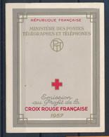 EC-1036: FRANCE: Lot Avec Carnet Croix Rouge De 1957** - Croce Rossa