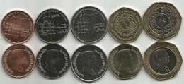 Jordan 2008/12. High Grade Set Of 5 Coins - Jordan