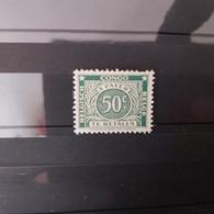 Timbre Congo Belge  Taxe 50c - Strafportzegels: Ongebruikt