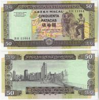 Banknote Macau 50 Patacas 1999 Pick-72 Unc (US$ 52.5) City Bridge Chinese Dragon - Macau
