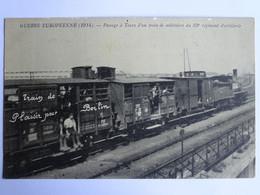 CPA (37) Indre Et Loire - TOURS - Guerre Européenne - Passage à Tours D'un Train De Militaire Du 33è Régiment D'artiller - Tours