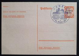 """Deutsches Reich 1939, Postkarte P283 """"Aufbrauchsausgabe"""" DANZIG Grüßt Adolf Hitler - Storia Postale"""