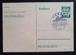 """Deutsches Reich 1939, Postkarte P284 """"Aufbrauchsausgabe"""" DANZIG Grüßt Adolf Hitler - Storia Postale"""