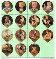 Opercules De Creme à Café, KRD Suisse, Série 50 A, Complète; Albert Anker - Milk Tops (Milk Lids)