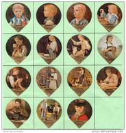 Opercules De Creme à Café, KRD Suisse, Série 50 B, Complète; Albert Anker - Milk Tops (Milk Lids)