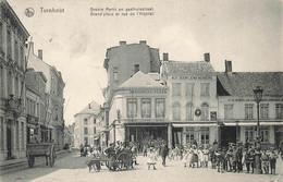 TURNHOUT - Grand'Place Et Rue De L'Hôpital - Groote Merkt En Gasthuisstraat - Carte Très Animée - Turnhout