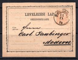 HUNGARY 1874 - 2kr Franz Joseph Postal Stationery - Posted - Postal Stationery