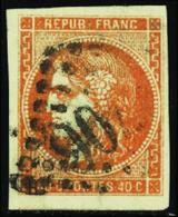 FRANCE  1849/1900 N°48 40c Orange TB Qualité:OBL - 1870 Bordeaux Printing