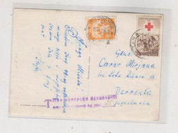 ITALY 1958 SAN REMO   Nice Postcard To Yugoslavia Postage Due - 1946-60: Marcophilie