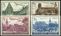 België 1662/65 - Abdijen - Abbayes - Gent - Lobbes - Heverlee - Floreffe - Ongetand - Cote: € 40,00 - Imperforates