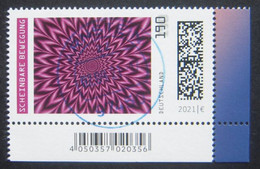 "Bund/BRD September 2021 Sondermarke ""Bewegungsillusion "", MiNr 3624, Ecke 4, ,  Ersttagsgestempelt - Gebruikt"