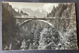 Strasse Frutigen-Adelboden/ Neue Hohstegbrücke Mit Postauto - BE Berne
