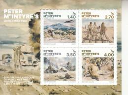 2020 New Zealand Peter McIntyre's World War II Military History WWII Souvenir Sheet MNH @ BELOW FACE VALUE - Ungebraucht