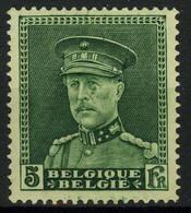 België 323-Cu * - Koning Albert I - Albert Met Kepi - 5F Groen - Vlek Onder Oog - Tache Sous L'oeil - Curiosités