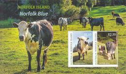 2020 Norfolk Island Norfolk Blue Cattle Agriculture Souvenir Sheet MNH  @ BELOW FACE VALUE - Norfolkinsel