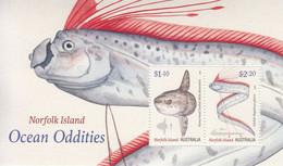 2020 Norfolk Island Fish Poisson Souvenir Sheet MNH  @ BELOW FACE VALUE - Ile Norfolk