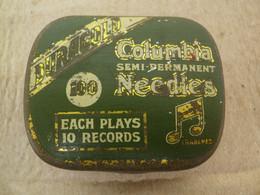 ANCIENNE BOÎTE A AIGUILLES - TETES REPRODUCTEURS DE PHONOGRAPHES - COLUMBIA DURAGOLD - FOURNIE - 78 Rpm - Gramophone Records